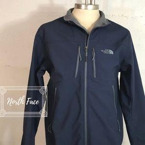 Men's Navy/Gray North Face Soft Shell Jacket Sz. L